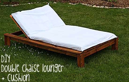 Make me a quilt diy double chaise lounger and cushion for Build outdoor chaise lounge