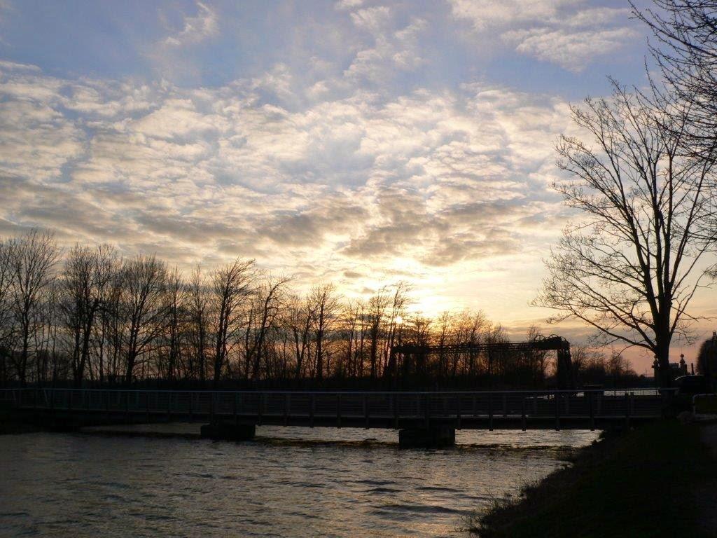 Kanal Dortmund-Ems-Kanal Frühling Ruhrpott Ruhrgebiet Sonnenuntergang