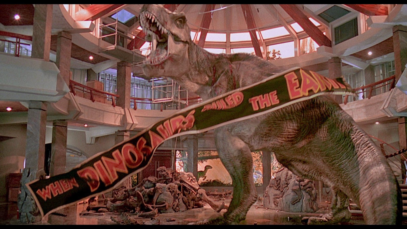 Jurassic Park finale t-rex