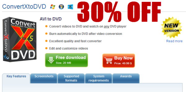 discount 30% OFF VSO ConvertXtoDVD 5