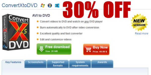 discount 30% OFF VSO ConvertXtoDVD 5