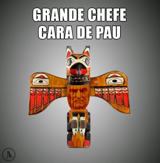 Caricatura de Cavado Silva – Grande Chefe Cara de Pau