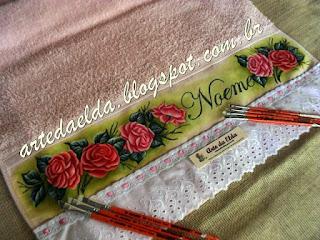 Toalha de banho: rosas