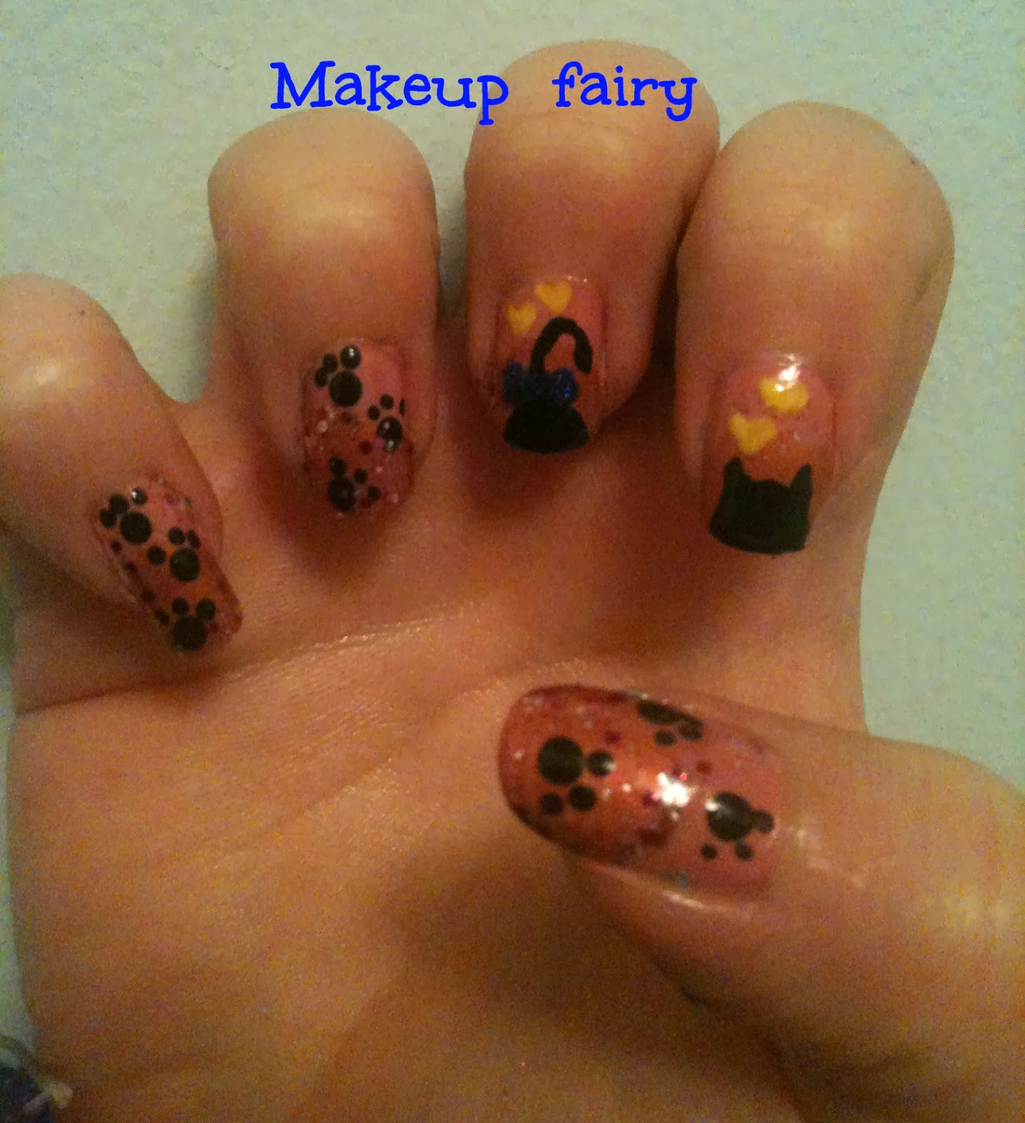 Tinklesmakeup Cat In Love Nail Art
