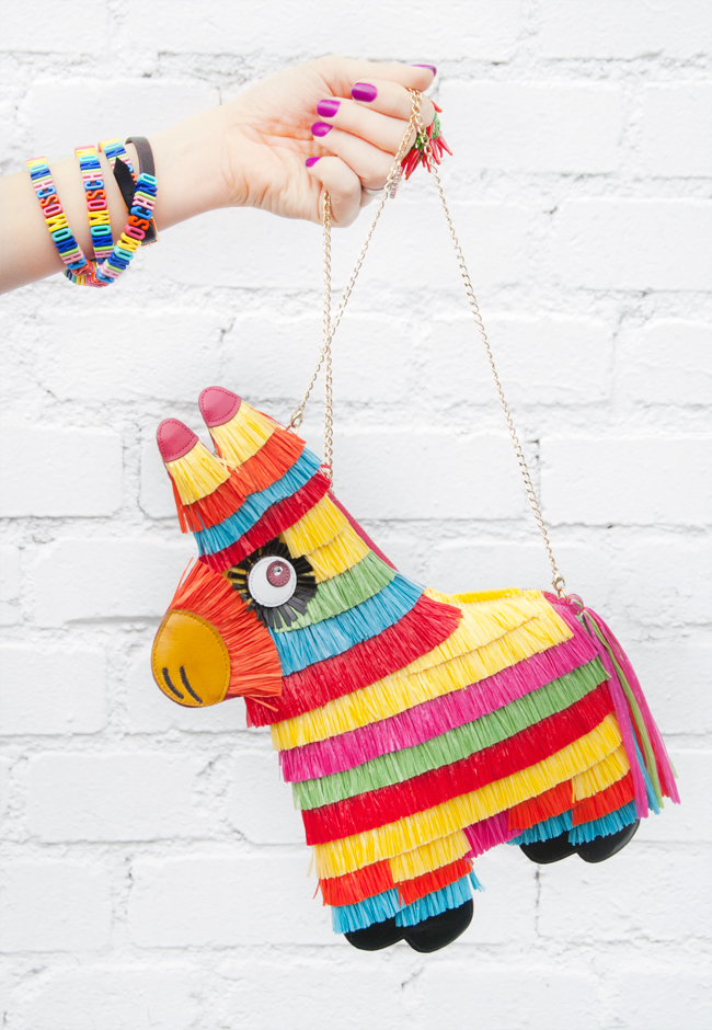 charlotte olympia, piñata bag, quirky handbag