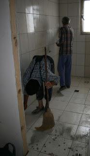 Work starts on the bathroom again
