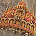 Temple pendant embillished with lakshmi devi