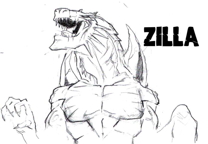 Ausmalbilder Godzilla Zum Ausdrucken