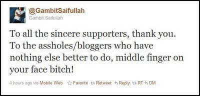 Gambit Saiffullah Maki Blogger ?