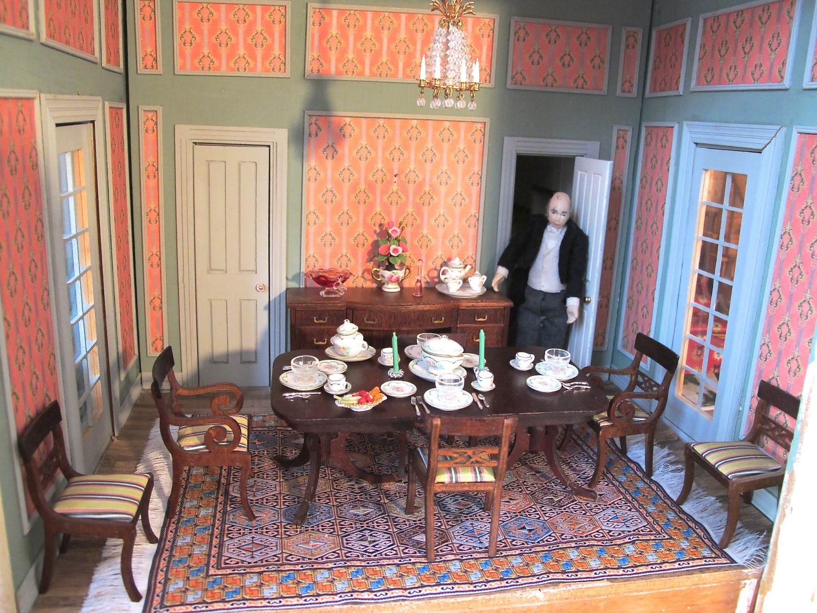 The Dining Room At Mindolton Manor   Vintage Dollhouse