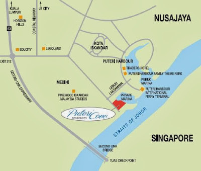 Puteri Harbour Location close up