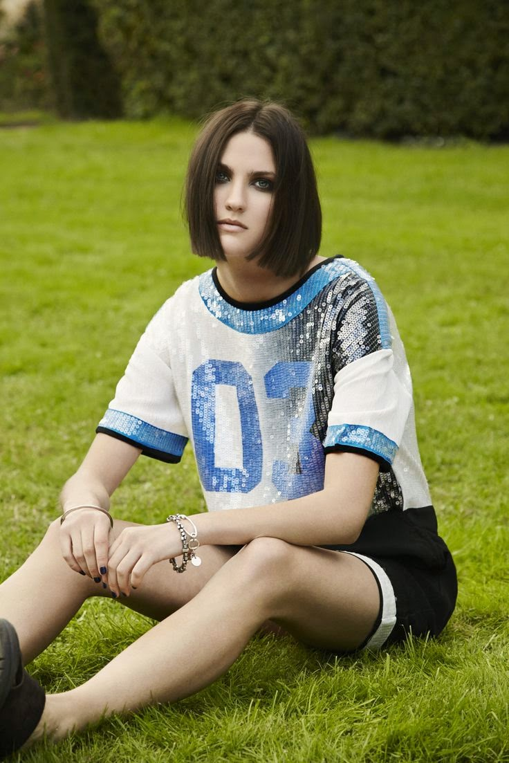 Eleven Paris blue black and white sporty oversized sequin dress