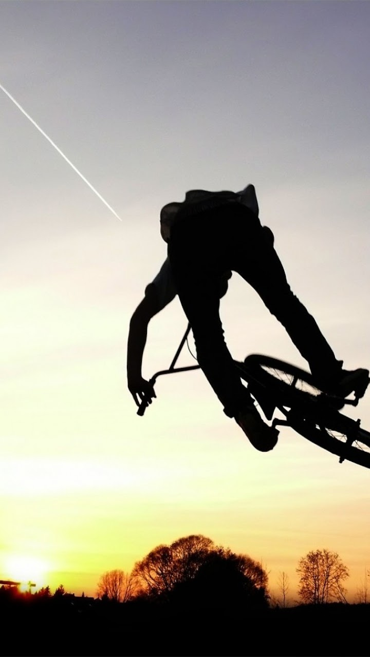 Android Best Wallpapers Mountain Bike Silhouette Android Best Wallpaper