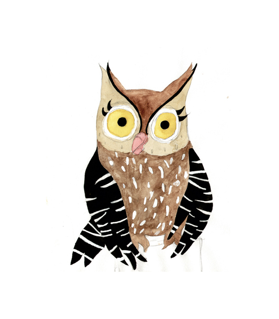 cute owl drawings - 567×649