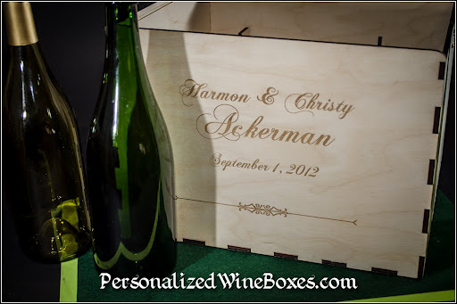 wood wine box, wedding gift