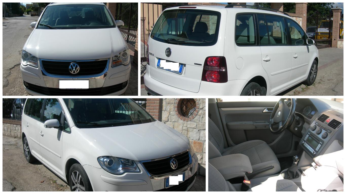 VW TOURAN 2.0 ECOFUEL METANO ANNO 2008 HIGHLINE CON CLIMA-CERCHI IN LEGA VETRI ELET-110.000 KM
