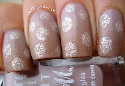 Barry M Matte Vanilla and Caramel gradient with dots in Lady