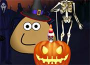 Pou Halloween House juego