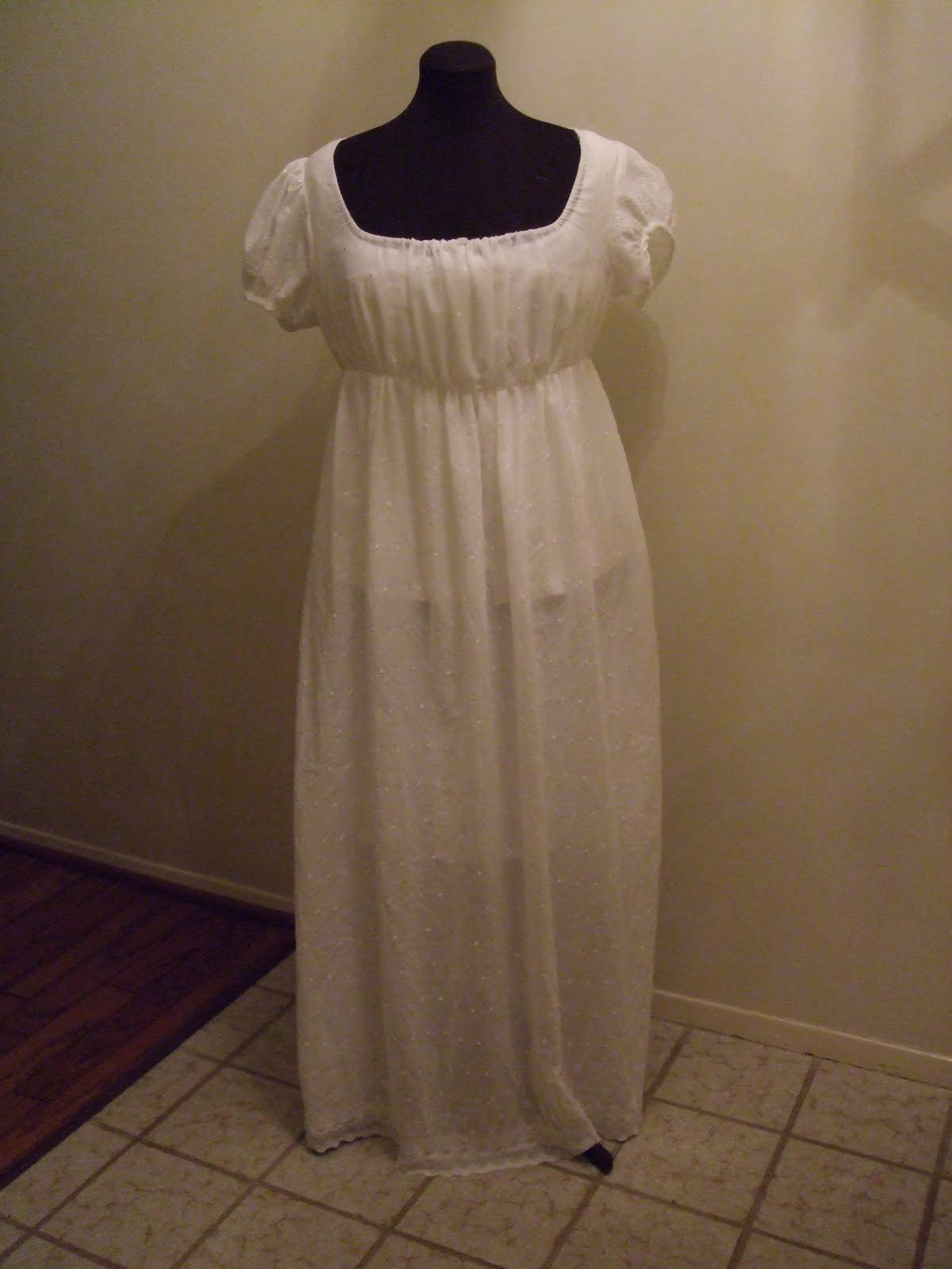 Maggie\'s Costume Wardrobe: White cotton regency gown