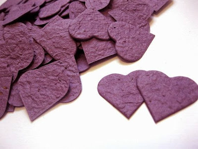 plum plantable paper hearts