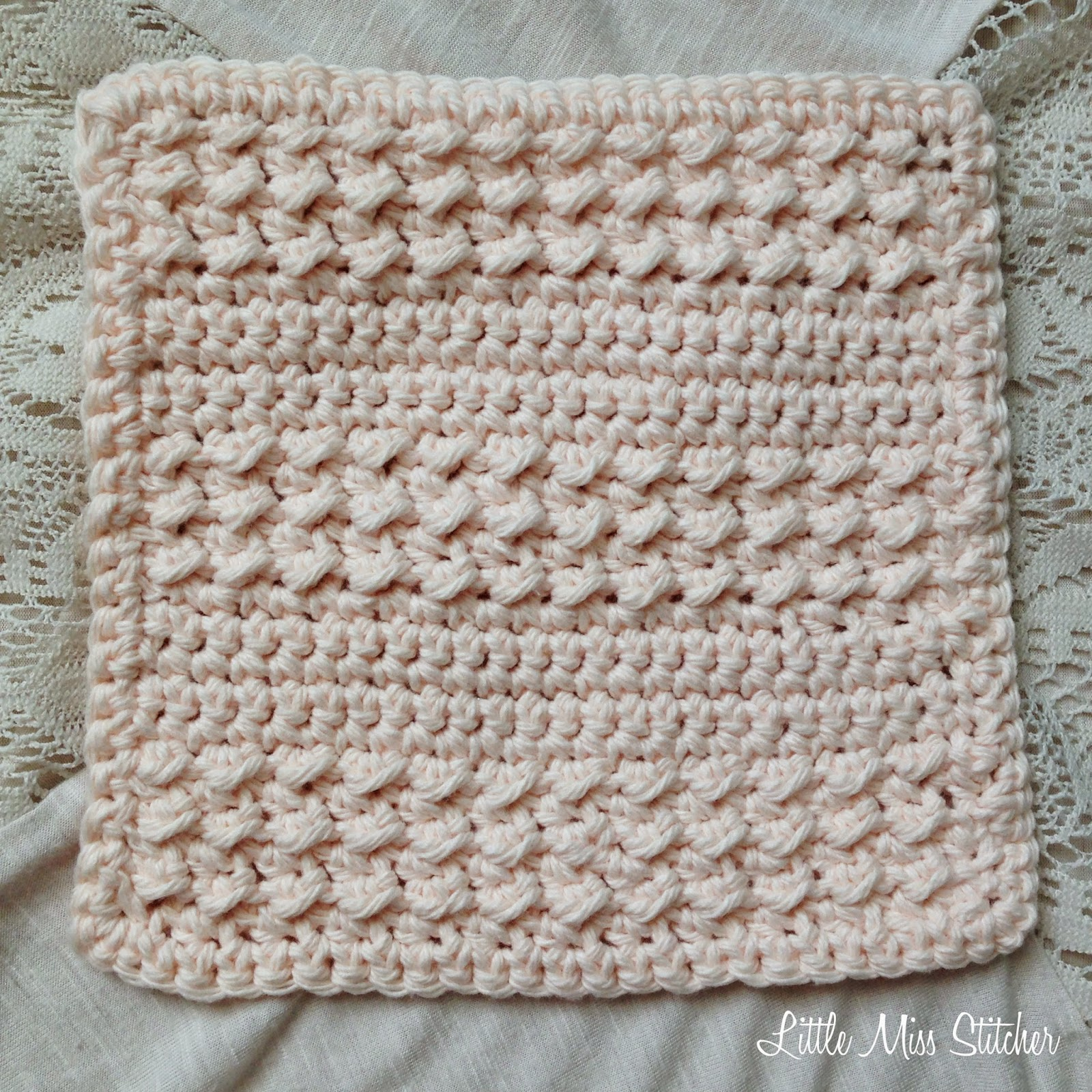 Free Crochet Pattern For Easy Dishcloth : Little Miss Stitcher: 5 Free Crochet Dishcloth Patterns