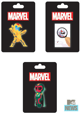 San Diego Comic-Con 2015 Exclusive Skottie Young Marvel Pin Series - Ultron, Ant-Man & Vision