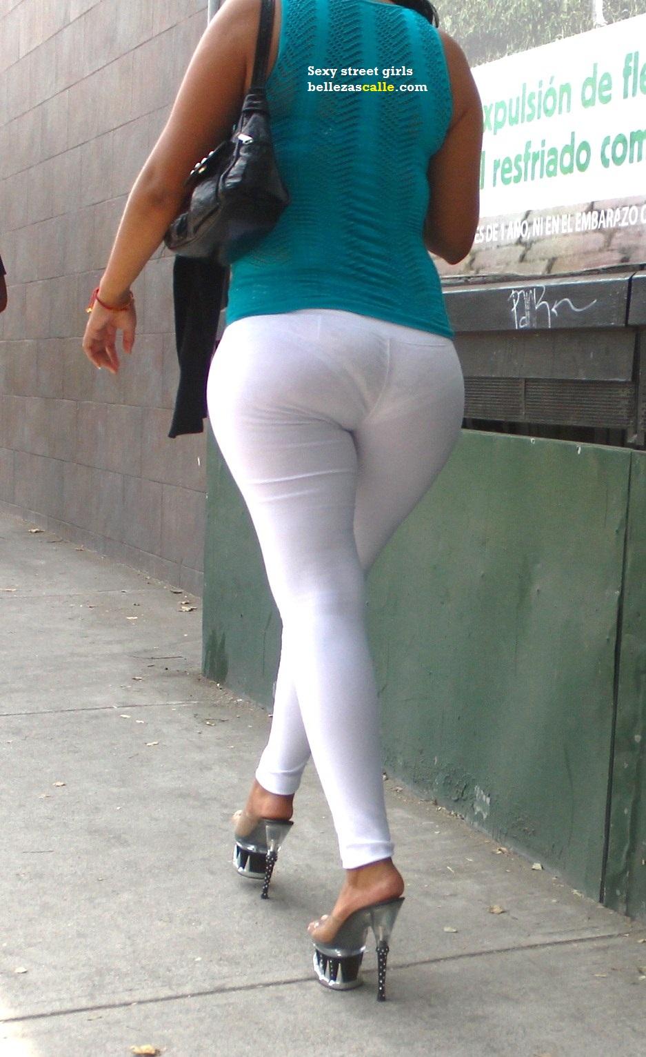 Culona de leggins blancos - 3 part 2