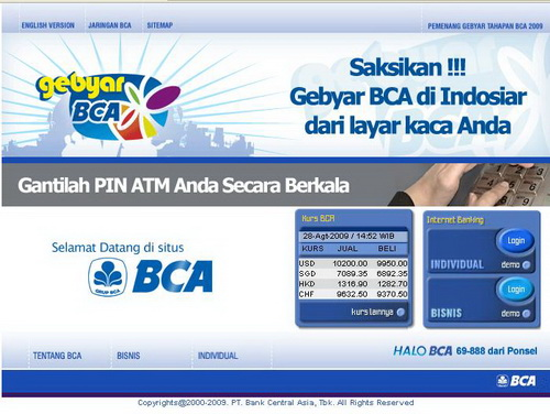 Cara Aktifasi KlikBCA Individual Login Via ATM Terbaru