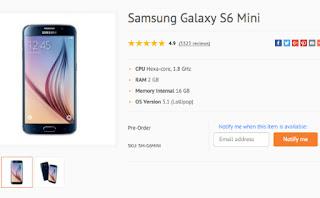 Samsung Galaxy S6 Mini: Σε online κατάστημα με οθόνη 4.6″, εξαπύρηνο επεξεργαστή