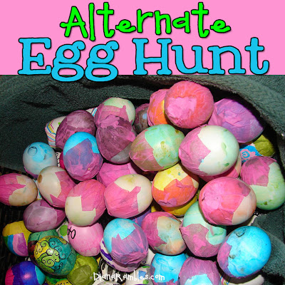 alternate eco friendly Easter egg hunt