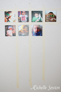 masking tape and instagram photos