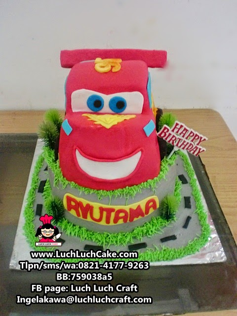 Kue Tart 3D Lighting Mc Queen Cars Moviedaerah surabaya - sidoarjo