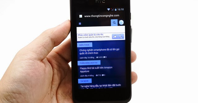 HTC Desire 210 hai SIM giá rẻ về Việt Nam