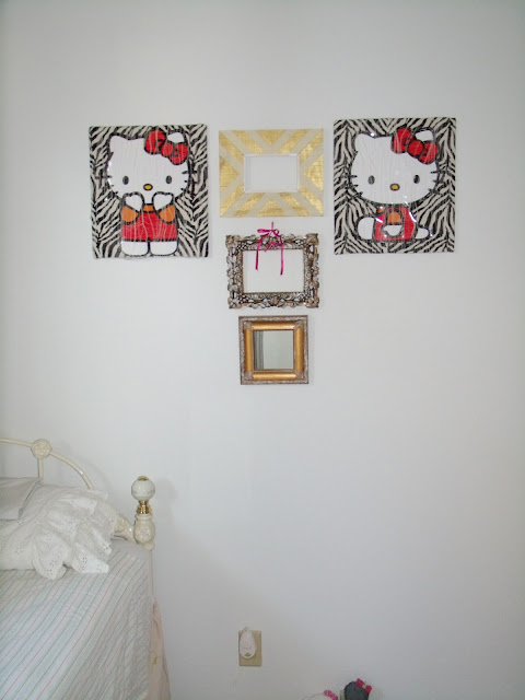 REPURPOSED GIFTBAG, GIFTBAG ART, PAINTED FRAMES