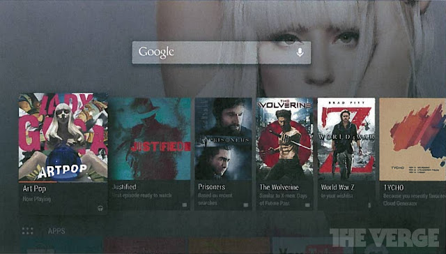 Alleged Android TV interface