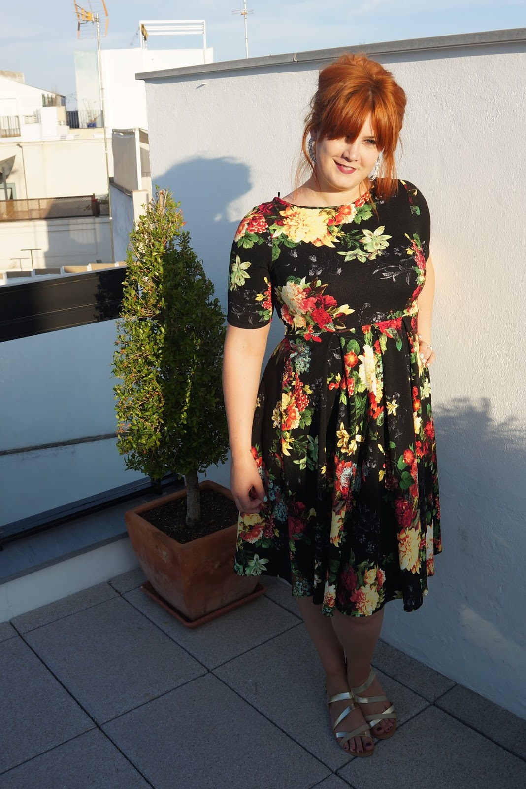 Terrible Tumbles: The Tall Girl Dream - Simply Be Floral Midi Dress