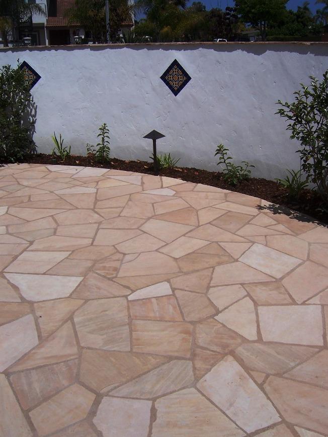 The 2 Minute Gardener Photo Flagstone Over Concrete Patio