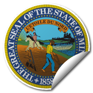 Sticker of Minnesota Seal