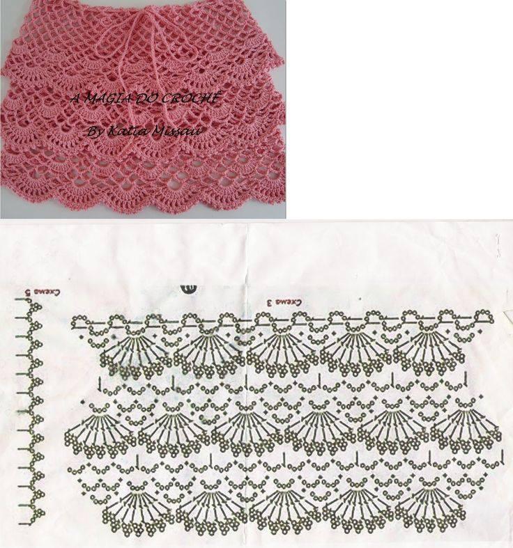 Patrón #679: Falda tejida a Crochet ~ CTejidas [Crochet y Dos Agujas]