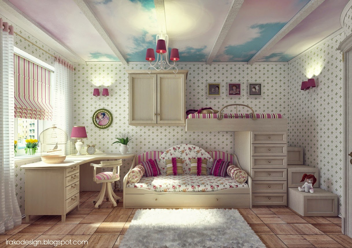 Wall decal teenage girls bedroom with low pro bed for Best beds for teenager