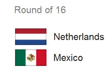 Jadwal Pertandingan Belanda vs Meksiko - 16 Besar Piala Dunia 2014