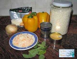 Pimientos rellenos de arroz y atún