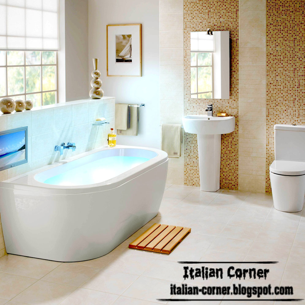 Modern italian bathtub designs models picture 2015 Italian bathrooms