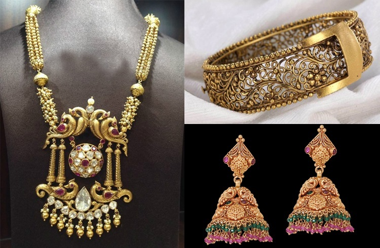 Antique Jewelry Designs, how you may define or describe the the term ''Antique''? I think it is very hard or impossible to state what is antique ...... or what things of different kinds are antique, things included art, crafts, handicrafts, jewelry, fashion and style, dress, things of daily use etc. may be called antique if these things which are a hundred years old may be claimed as antique, a piece of jewelry may also be old over hundred years and called antique, but many times this definition does not cover the all antique things, as many celebrities use a different style, jewel, dress on red carpets, academy awards and films related ceremonies ....... or a diamond ring, a necklace or a hair catch also may be called antique if it is gifted by some one who is loved by him,,,,,, So we may define the term Antique ..... a thing, a piece of jewelry may be called antique if it is embedded beads, craftsmanship, designs, or emotional connection and relation with wearer. Here few designs are given from antique jewelry arts which may be treated as gods and flowers and fragrance.