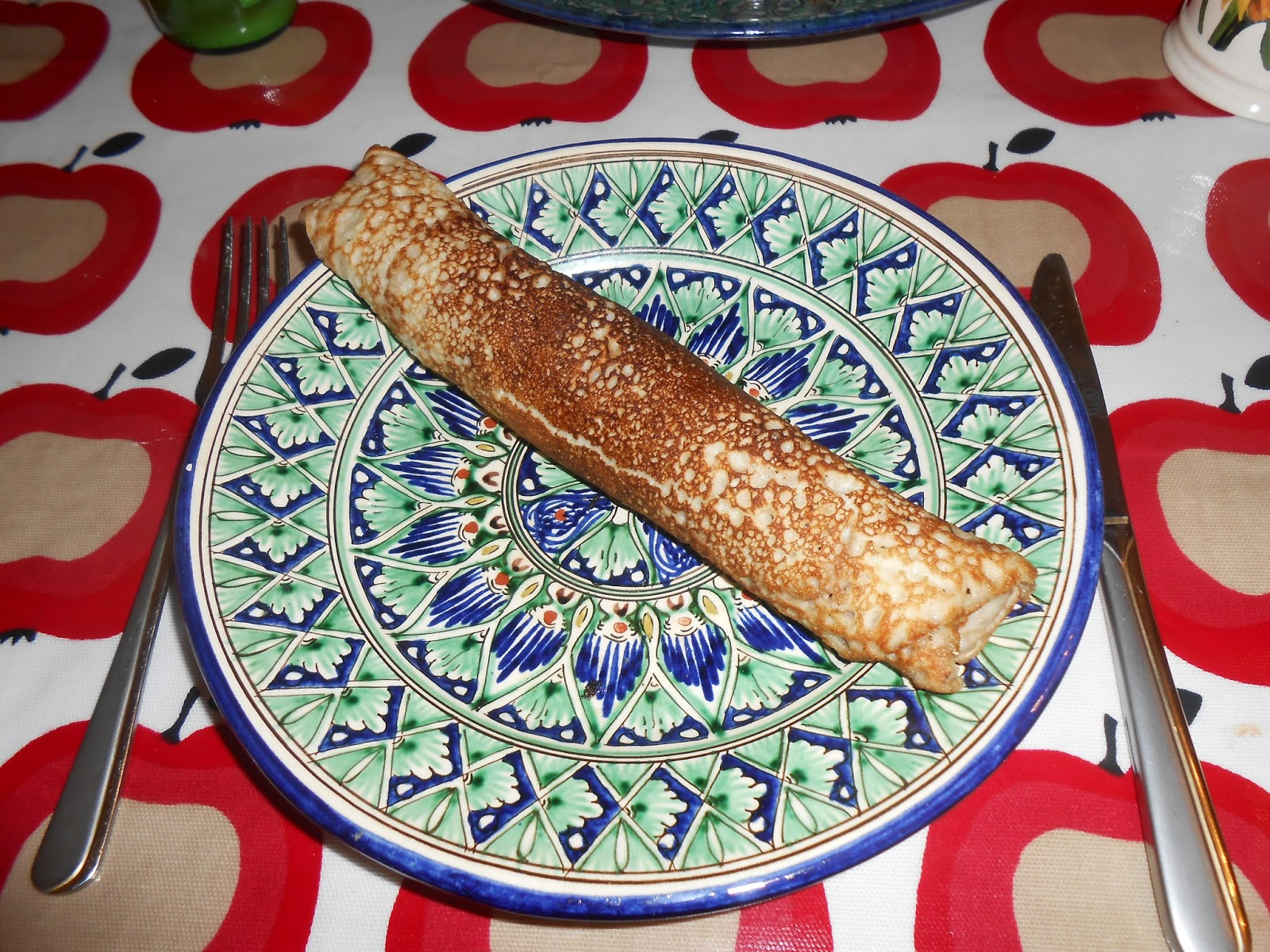 Pancake on Uzbek dish