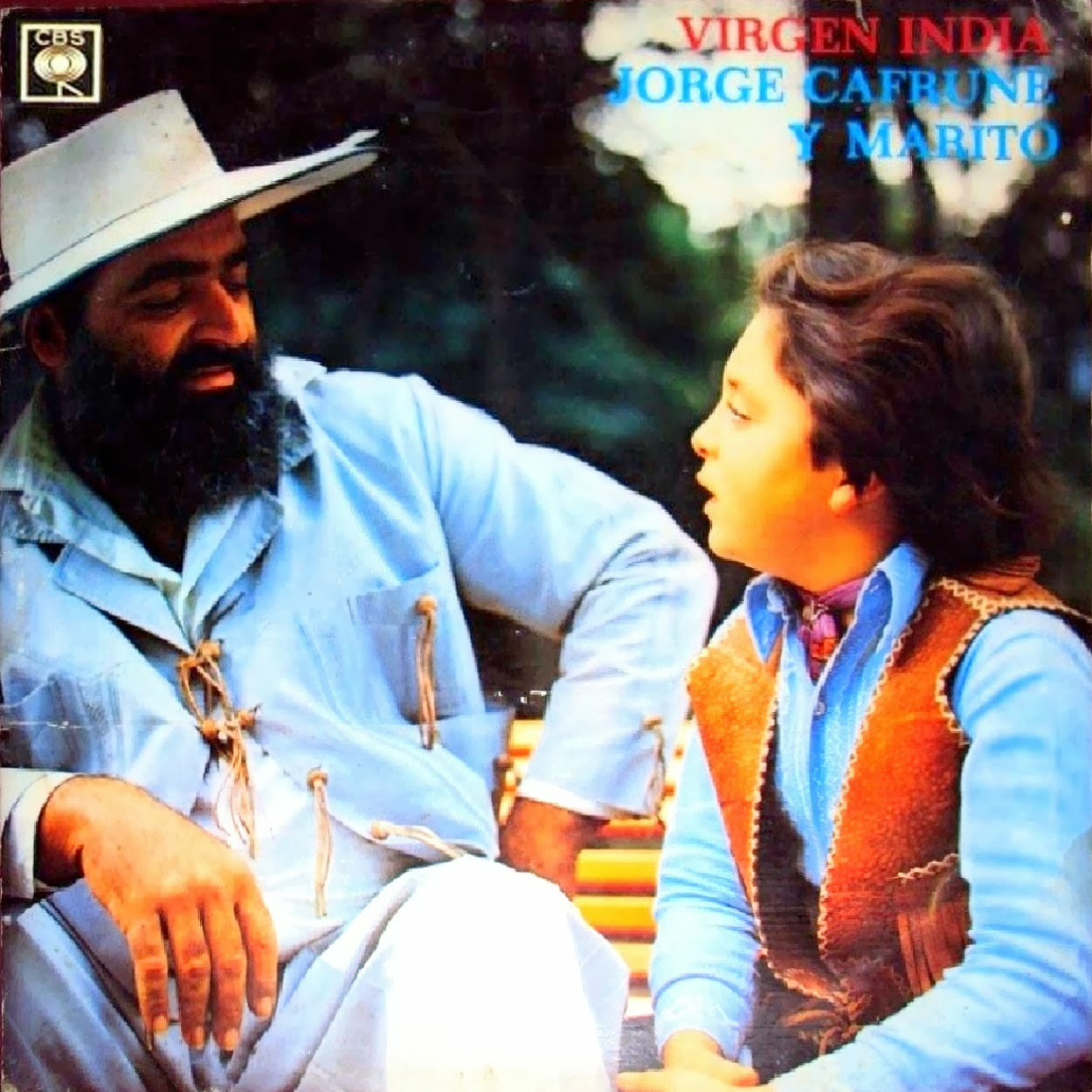 JORGE CAFRUNE - VIRGEN INDIA - JORGE CAFRUNE Y MARITO - CBS LD Nº 9147 (1972)