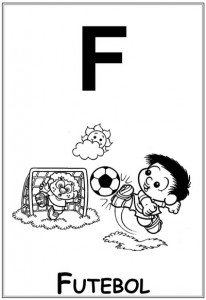 alfabeto turma da monica  baby letra f