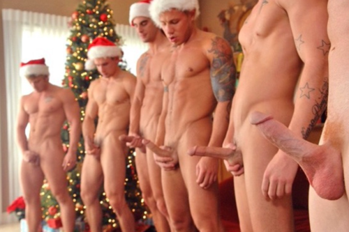 Christmas nude males