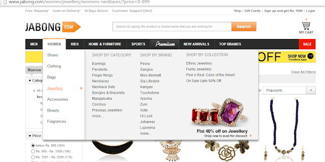 Jabong.com Website