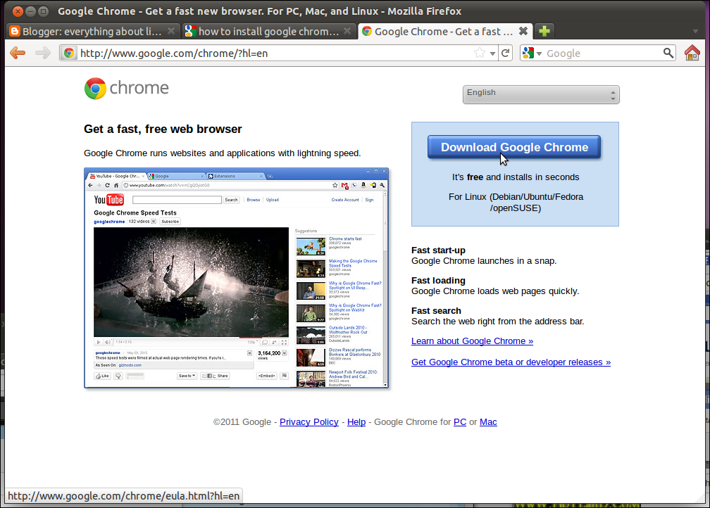 linux chrome browser download